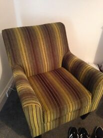 Yellow and green stripy chair
