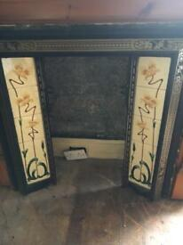 Cast iron inset for fire place