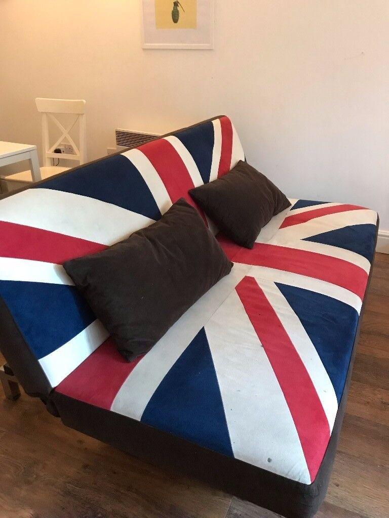 Jack Union (British Flag) Sofa Beds 150 for 2