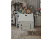 Lovely shabby chic french style writing bureau with two drawers