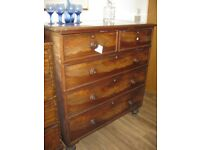 ANTIQUE 19TH CENTURY LARGE CHEST OF DRAWERS