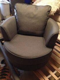 brand new grey swivel cuddle chair