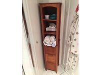 Tall thin wooden shelf unit with drawers - Very good condition