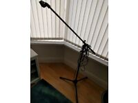 On Stage microphone stand, Shure mic holder & XLR cable - home use only
