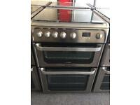 Silver Hotpoint 60cm gas cooker (fan oven)