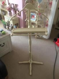 Cream shabby chic shirt and trouser stand