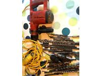 Hilti TE12S hammer drill with lots of drill bits