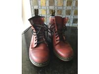 Dr Marten AirWair Cherry Boots Size 5.
