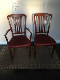 2 Chairs (1 carver)
