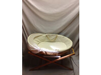 Waffle Moses basket with stand from john lewis.