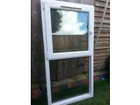WHITE UVPC DOUBLE GLAZED WINDOW - TILT & TURN Top Window - WITH KEY