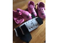 Sparring gear - hand, feet and shin pads