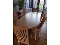 Dinning Room Table and 6 chairs for sale £75.00