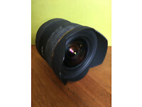 Sigma 12-24 ultra wide angle lens Canon fit