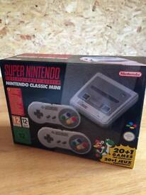 Super Nintendo classic console SNES mini boxed as new