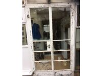 Crittall doors metal with frame and key