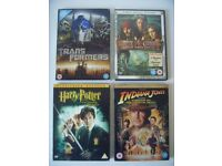 4x DVD Movies - Indiana Jones, Harry Potter, Transformers, Pirates of Caribbean