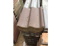 Brown redland grovebury eave tile