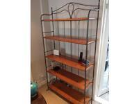 Ducal Wood and Metal Bookshelf