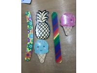 SANDPAPER NAIL FILES x 158. PINEAPPLE ICE CREAM SHAPES RAINBOW FLOWERS CURVED WHOLESALE