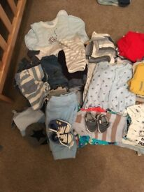 Bundles of baby boy clothes age 3-6 and 6-9