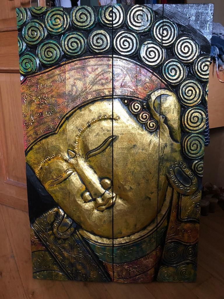 Wooden Buddha Wall Art In Weymouth Dorset Gumtree