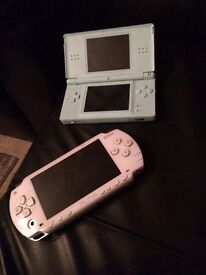 Psp with charger and ds