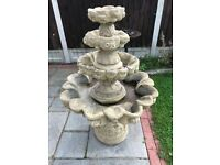 Large concrete water feature