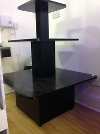 Tiered retail stand - black