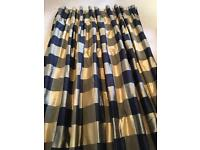 Interlined silk curtains