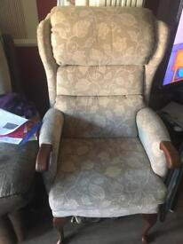 Arm chair sofa in cloth material good condition