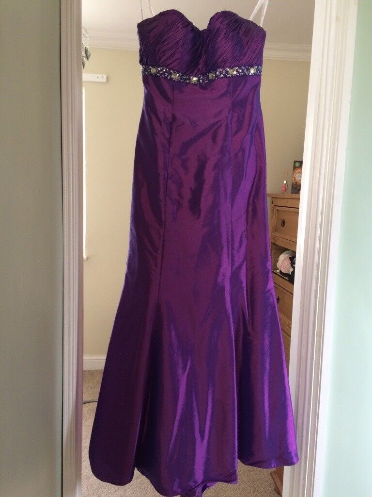 Cadbury purple bridesmaid/prom dress. Strapless with corset back ...