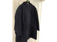 Joules waterproof coat Navy polka dot size 18
