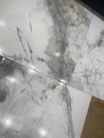 Porcelain kitchen or bathroom tiles