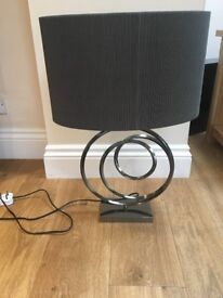 chrome base Lamp - rrp 50