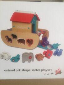 Hamleys Wooden Noah's Ark Shape Sorter