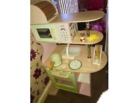 Solid wood toy kitchen free local delivery