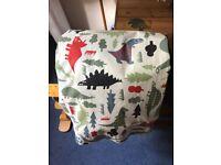 John Lewis dinosaur curtains and lampshade