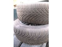 Winter Tyres x4 on Alloys. Fit Ford Focus and many others 15 inch Pirelli and Continental