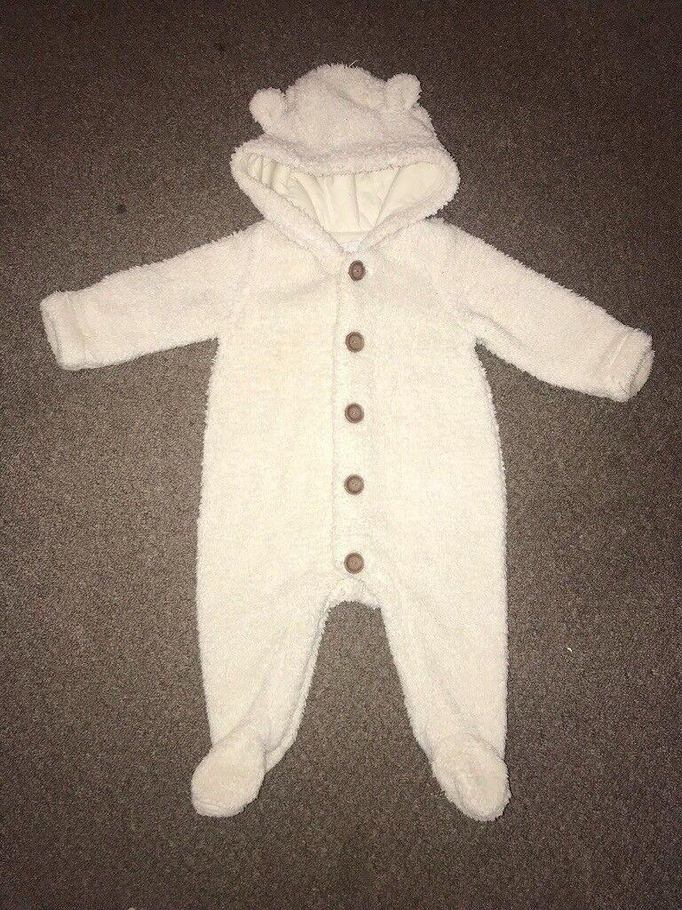 878fc9352 Baby Gap cream snowsuit pramsuit Size 3-6 months