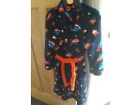 M&S Age 7-8 Boys 'Space' Dressing Gown - Hardly Worn, Great Condition