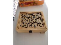 Traditional Wooden Labyrinth Game in Original Box