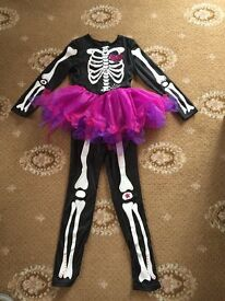 Children's Halloween Skeleton Costume For Approximately Ages 7-8 Years.