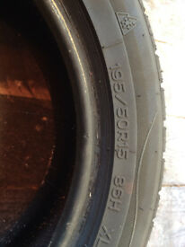 Two nankang winter tyres 195/50/15