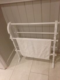 Vintage towel rail , chalk painted & distressed