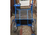 Exercise cart quick hitch