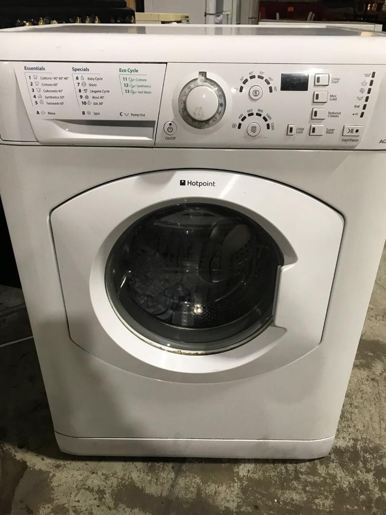 Hotpoint washing machine 1200 spin in good working order