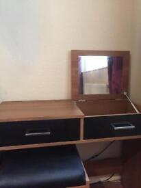 Black gloss with walnut bedroom furniture