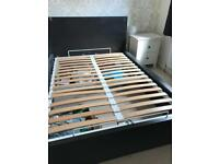 Good quality wooden double storage bed