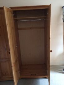 Solid pine wardrobe £50 each (have 2)